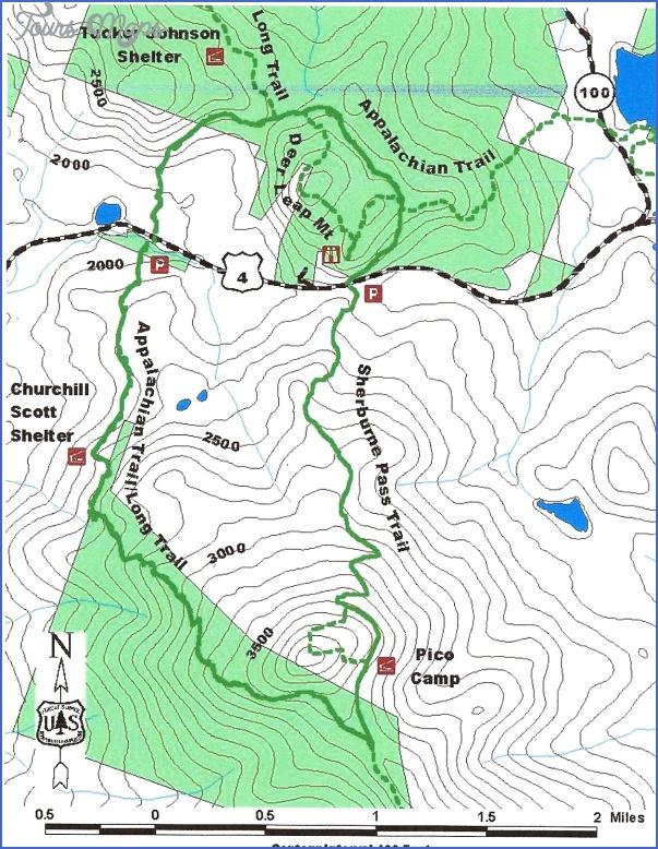 killington hiking trail map 12 Killington Hiking Trail Map