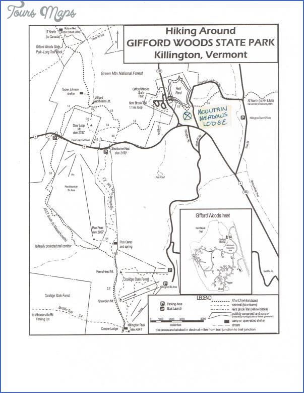 killington hiking trail map 13 Killington Hiking Trail Map