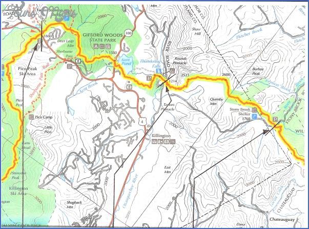 killington hiking trail map 14 Killington Hiking Trail Map
