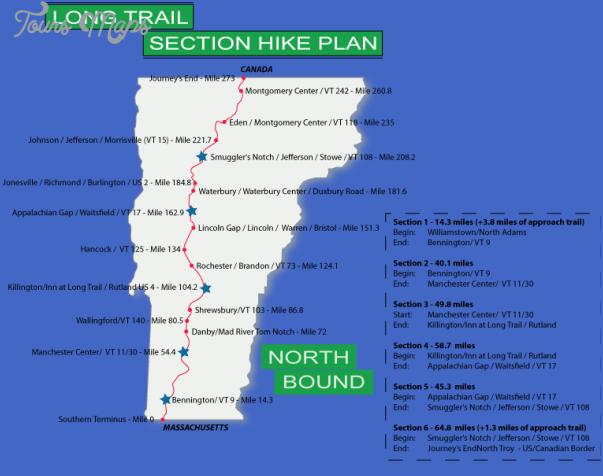 killington hiking trail map 2 Killington Hiking Trail Map