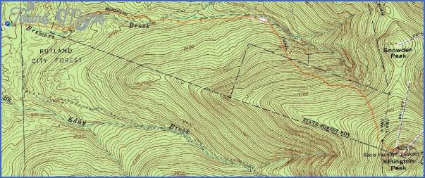 killington hiking trail map 7 Killington Hiking Trail Map