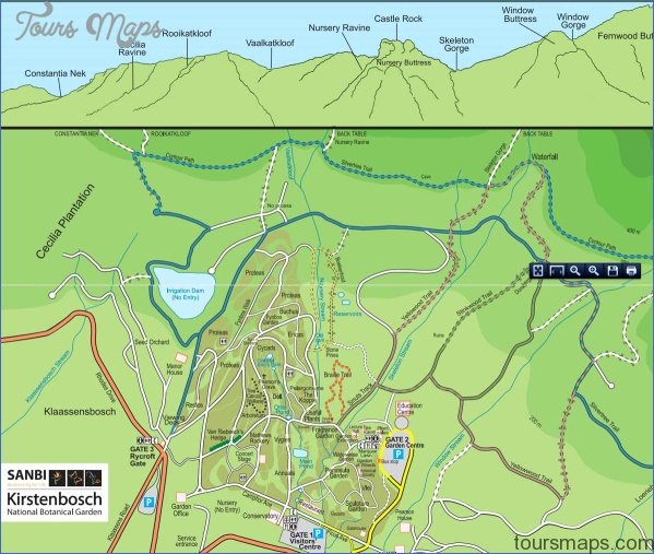 kirstenbosch national botanical garden attractions map 0 Kirstenbosch National Botanical Garden Attractions Map