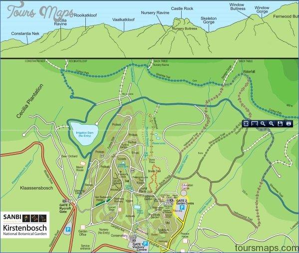 kirstenbosch national botanical garden attractions map 0 Kirstenbosch National Botanical Garden Attractions Map