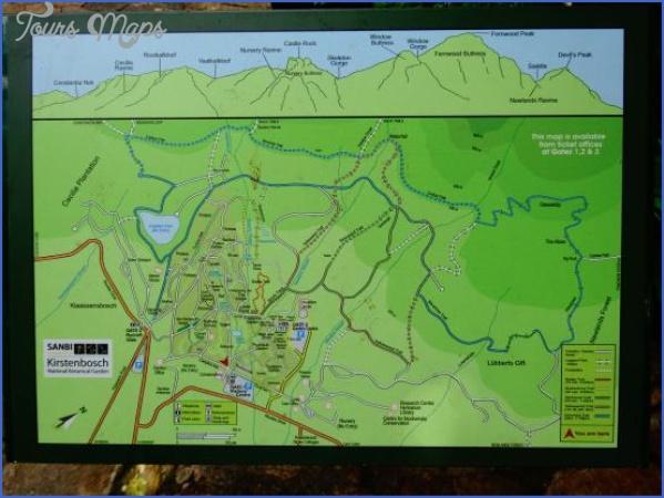 kirstenbosch national botanical garden attractions map 1 Kirstenbosch National Botanical Garden Attractions Map