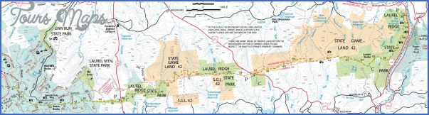 laurel highlands hiking trail map 10 Laurel Highlands Hiking Trail Map