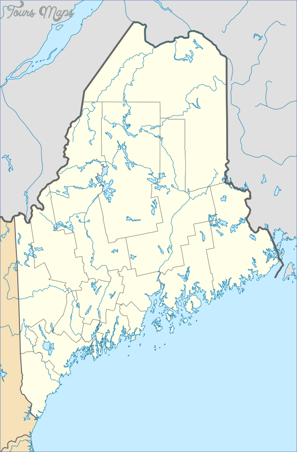 maine usa map images 1 Maine USA Map Images