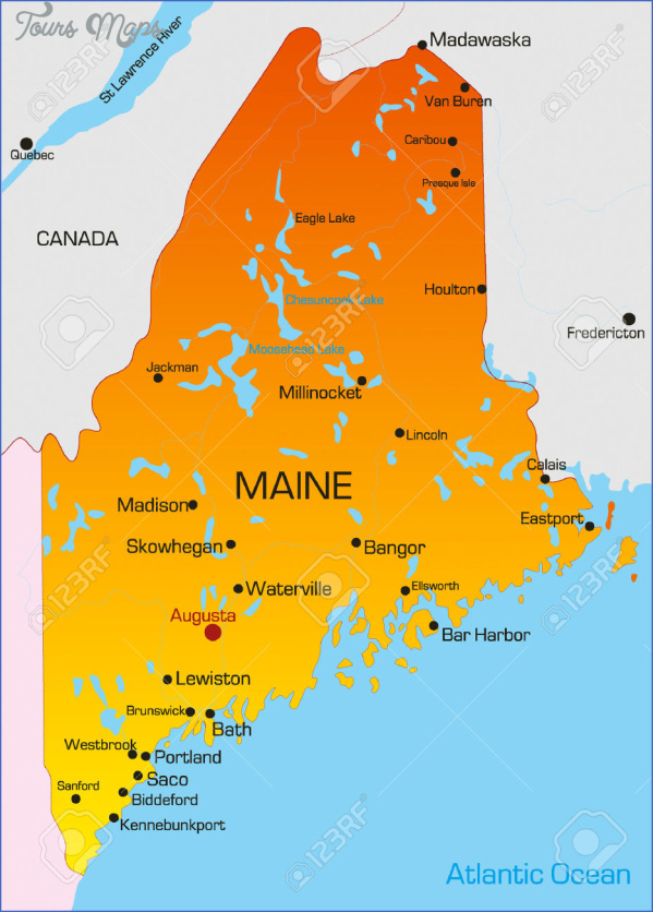 maine usa map images 14 Maine USA Map Images