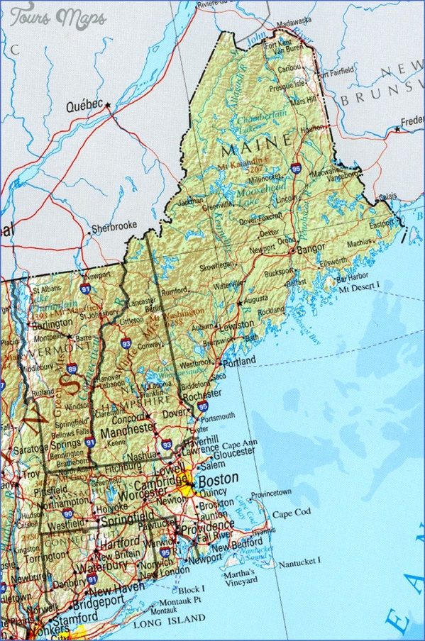 maine usa map images 3 Maine USA Map Images