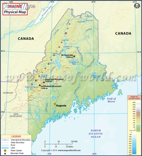 maine usa map images 6 Maine USA Map Images