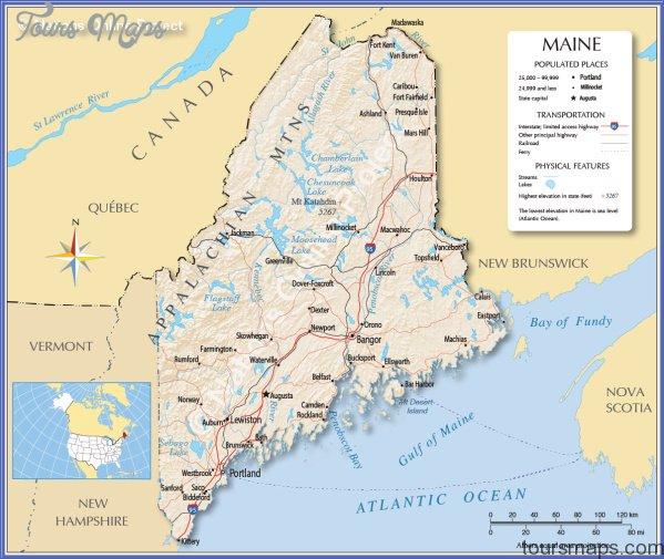maine usa map main cities  0 Maine USA Map Main Cities