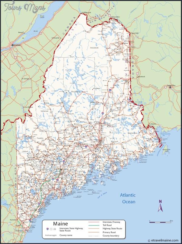maine usa map main cities  2 Maine USA Map Main Cities