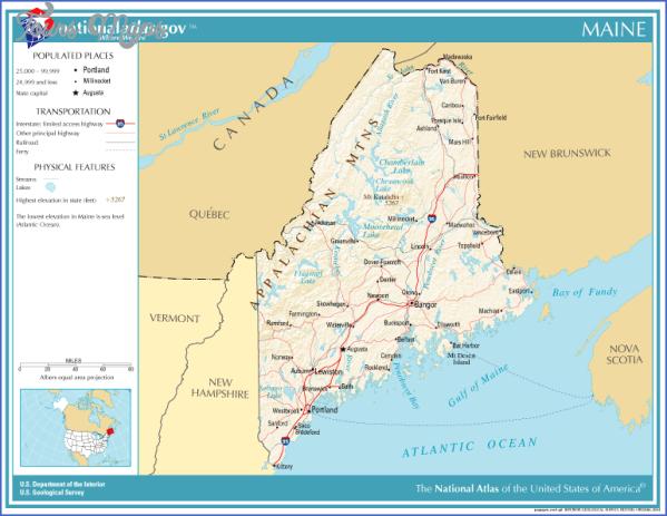 maine usa map main cities  6 Maine USA Map Main Cities