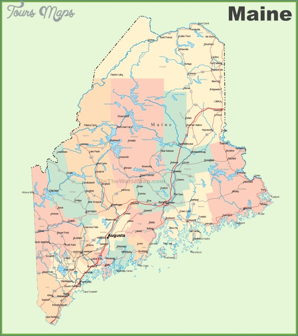 maine usa map of counties  1 Maine USA Map Of Counties