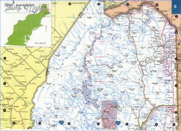 Maine Map Usa.Maine Usa Map Road Toursmaps Com