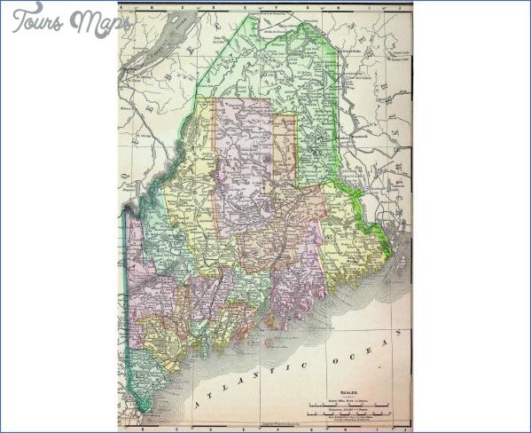 maine usa map road  2 Maine USA Map Road