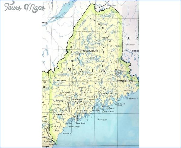 maine usa map road  7 Maine USA Map Road