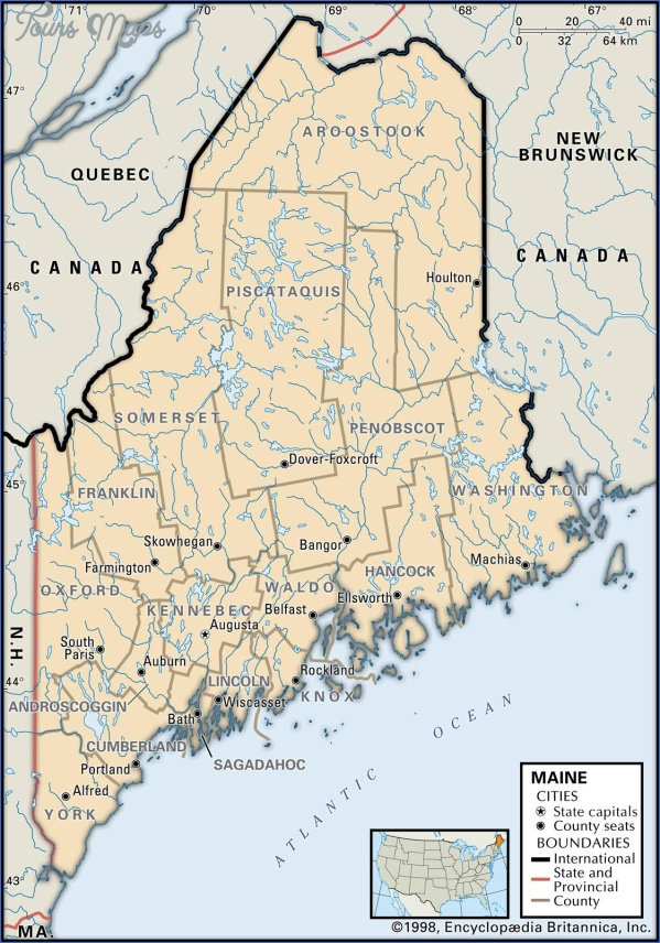maine usa road map online  1 Maine USA Road Map Online