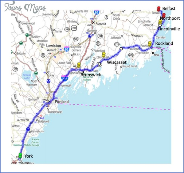 maine usa road map online  12 Maine USA Road Map Online