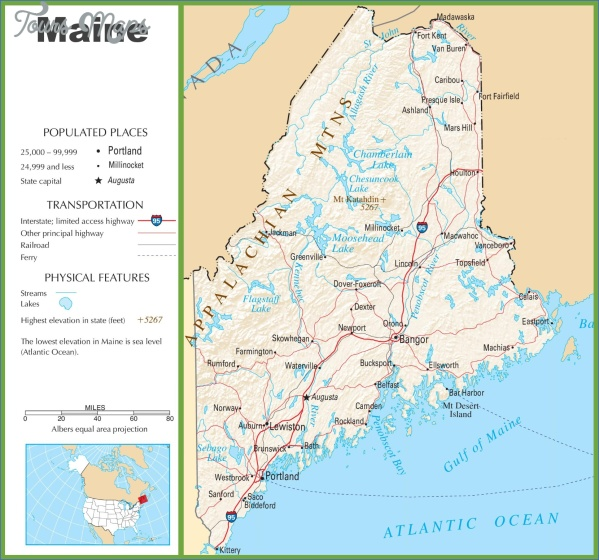 maine usa road map online  14 Maine USA Road Map Online