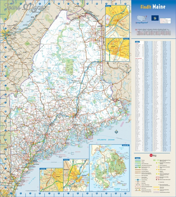 maine usa road map online  5 Maine USA Road Map Online