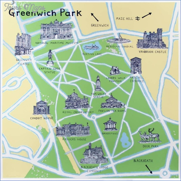 map of greenwich england 1 Map Of Greenwich England