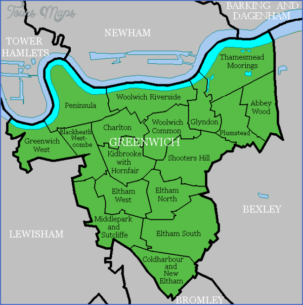 map of greenwich england 11 Map Of Greenwich England