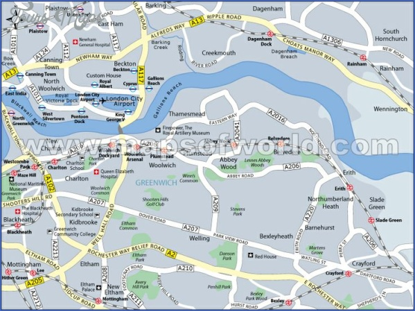 map of greenwich england 4 Map Of Greenwich England