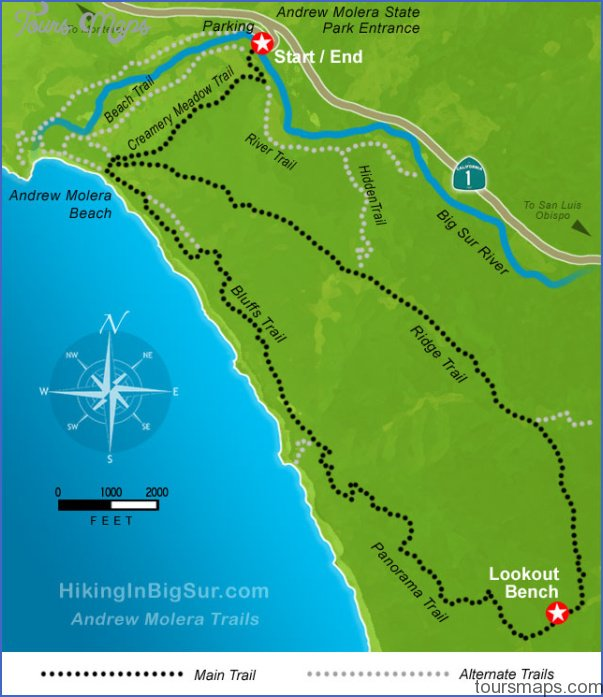 Hiking in Big Sur - Andrew Molera Trails Map .:.