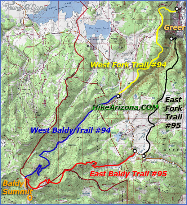 Mount Baldy Hiking Trail Map Toursmaps Com