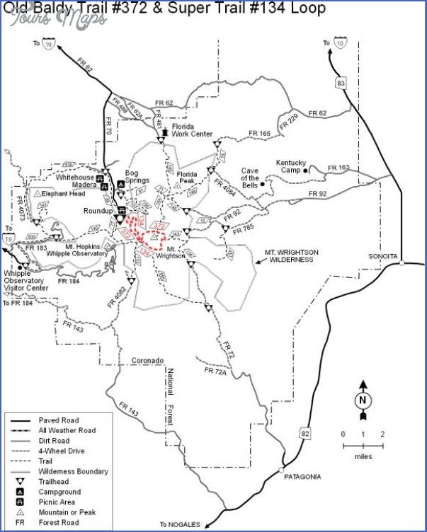 mount baldy hiking trail map 2 Mount Baldy Hiking Trail Map