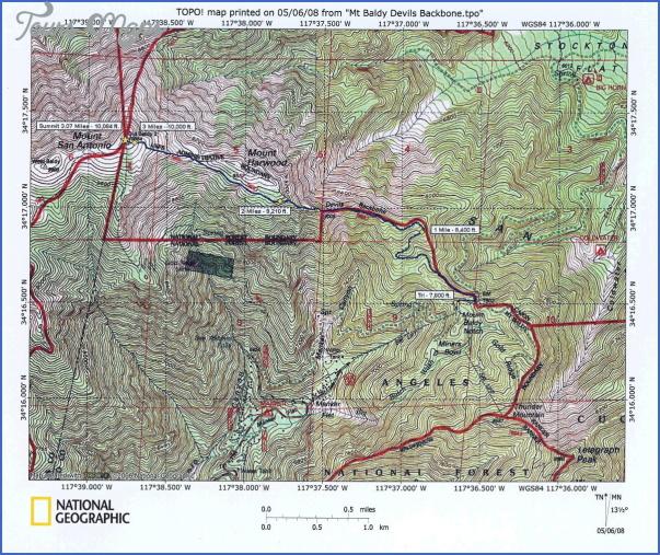 mount baldy hiking trail map 5 Mount Baldy Hiking Trail Map