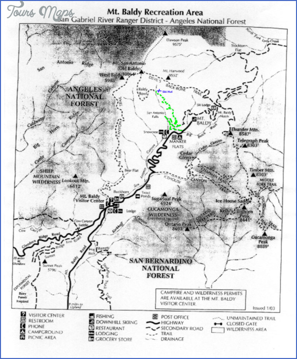mt baldy hike map 12 Mt Baldy Hike Map