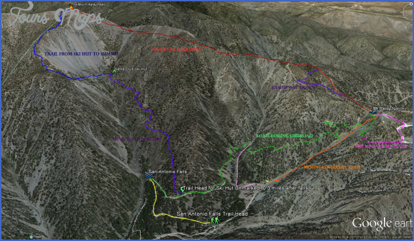 mt baldy hike map 13 Mt Baldy Hike Map
