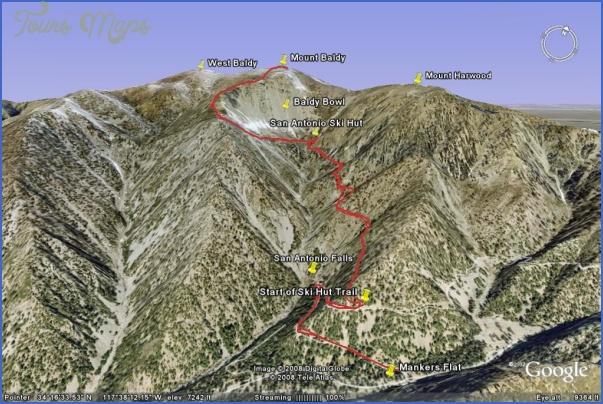 mt baldy hike map 3 Mt Baldy Hike Map