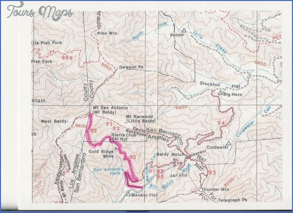 mt baldy hike map 5 Mt Baldy Hike Map