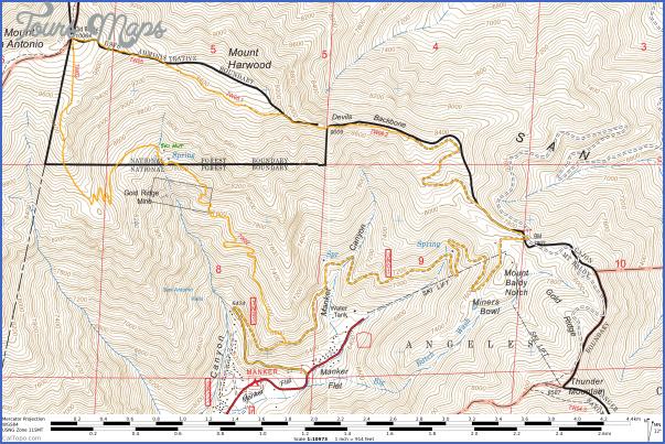 mt baldy hike map 8 Mt Baldy Hike Map