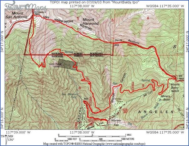 mt baldy hike map 9 Mt Baldy Hike Map