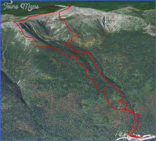 mt washington hiking trails map 2 Mt Washington Hiking Trails Map
