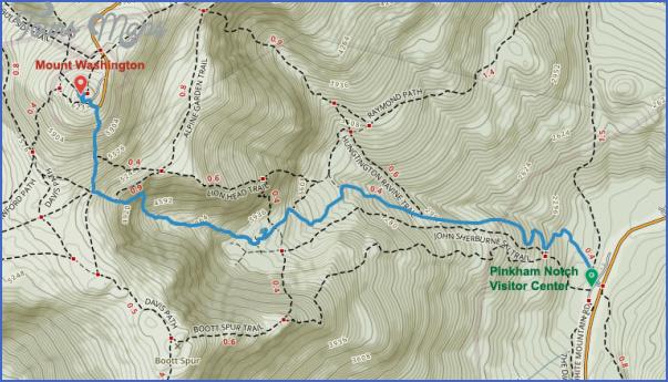 mt washington hiking trails map 7 Mt Washington Hiking Trails Map