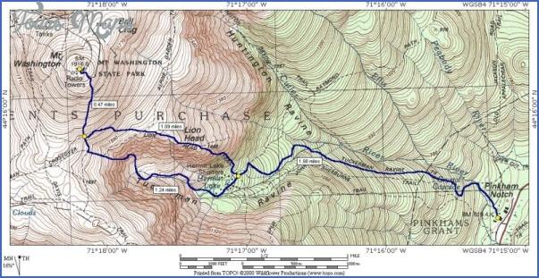 mt washington hiking trails map 8 Mt Washington Hiking Trails Map