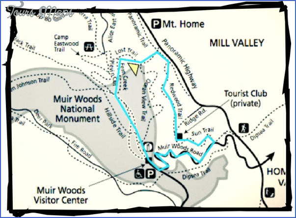 muir woods hiking trails map 3 Muir Woods Hiking Trails Map