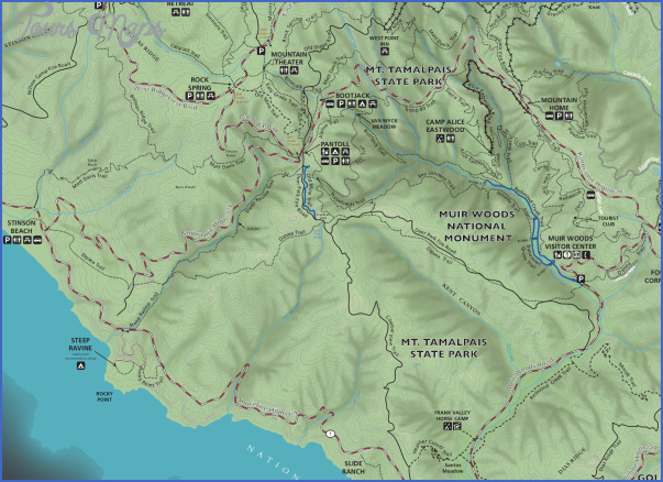 muir woods hiking trails map 8 Muir Woods Hiking Trails Map