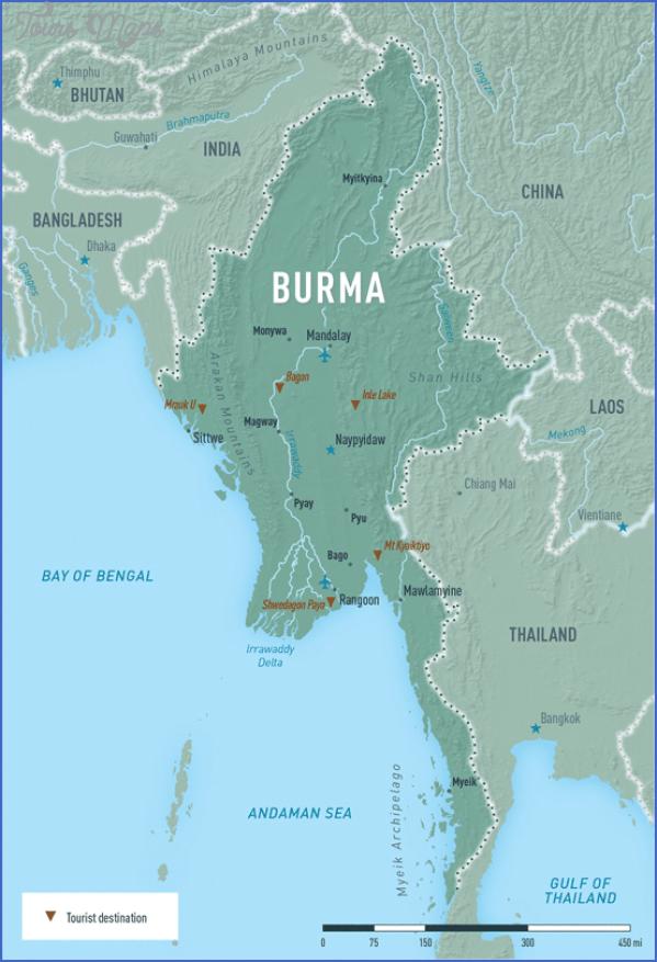 myanmar burma map 1 Myanmar Burma Map
