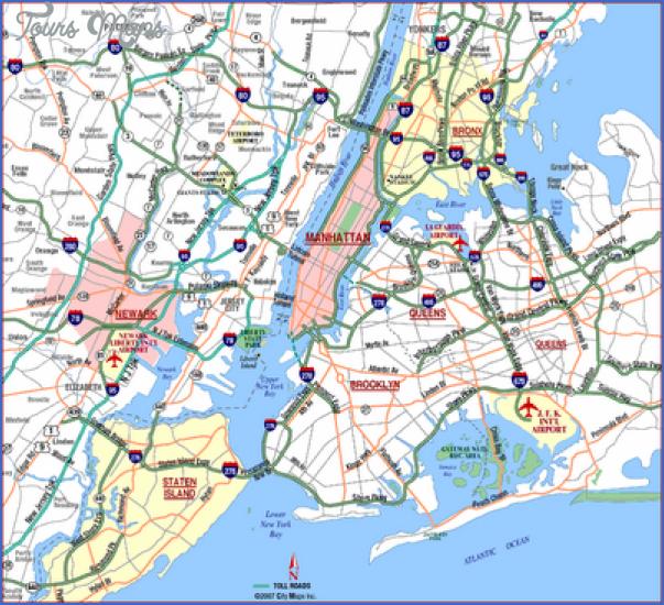 new york map airports  10 New York Map Airports