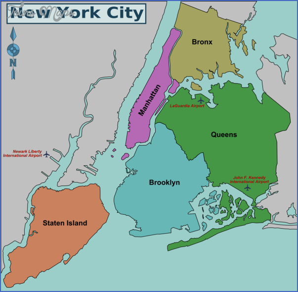 new york map airports  15 New York Map Airports