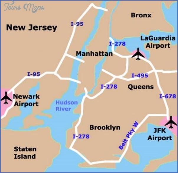 new york map airports  8 New York Map Airports