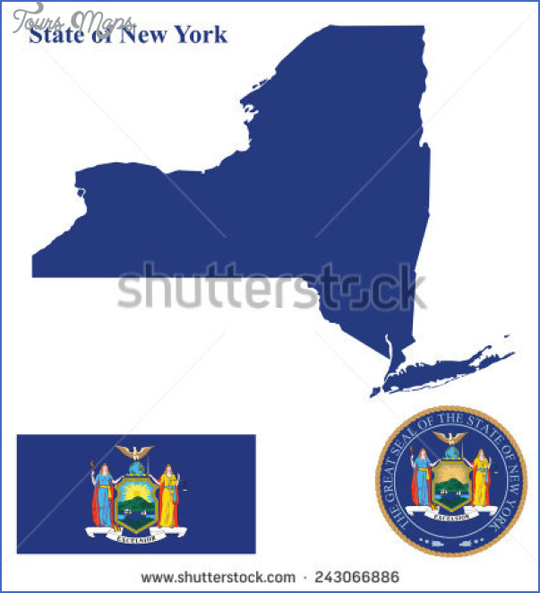 new york map and flag  6 New York Map And Flag