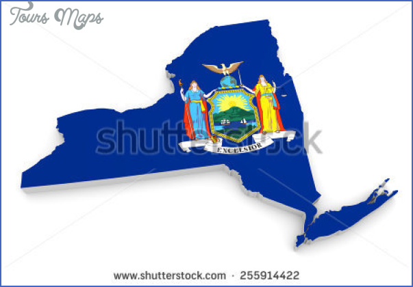 new york map and flag  7 New York Map And Flag