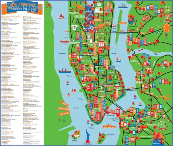 new york map geographical  10 New York Map Geographical