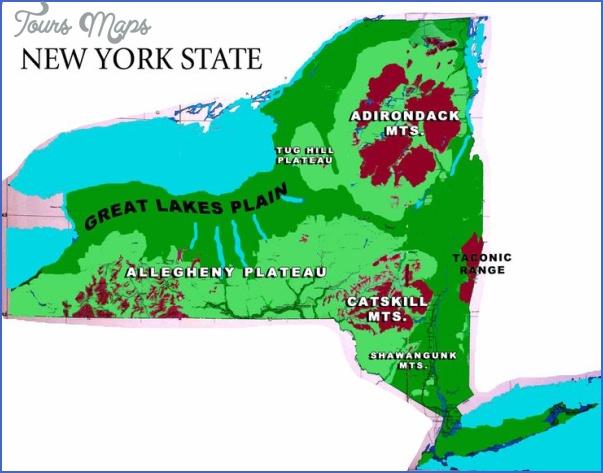 new york map geographical  2 New York Map Geographical